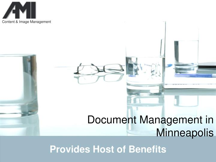 Document management in minneapolis