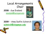 local arrangements chair