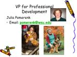 vp for professional development