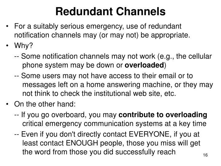Redundant Channels