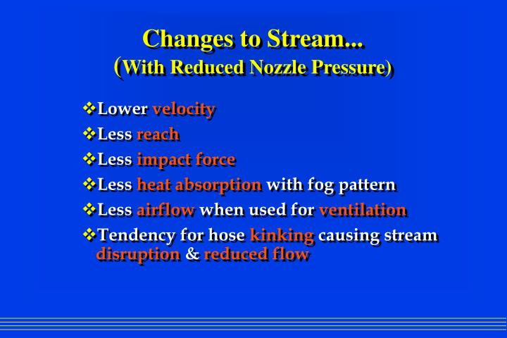 Changes to Stream...