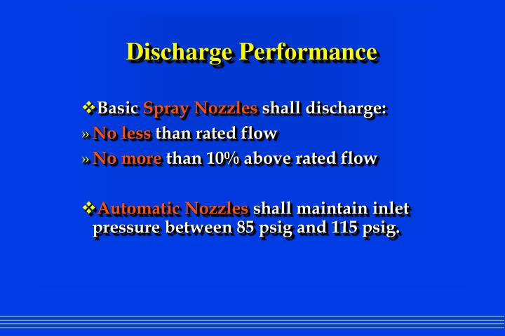Discharge Performance