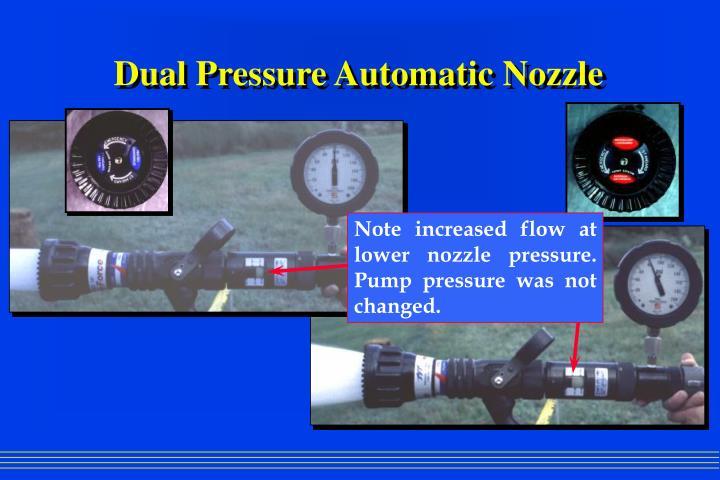 Dual Pressure Automatic Nozzle