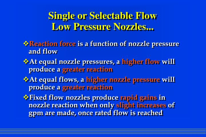 Single or Selectable Flow