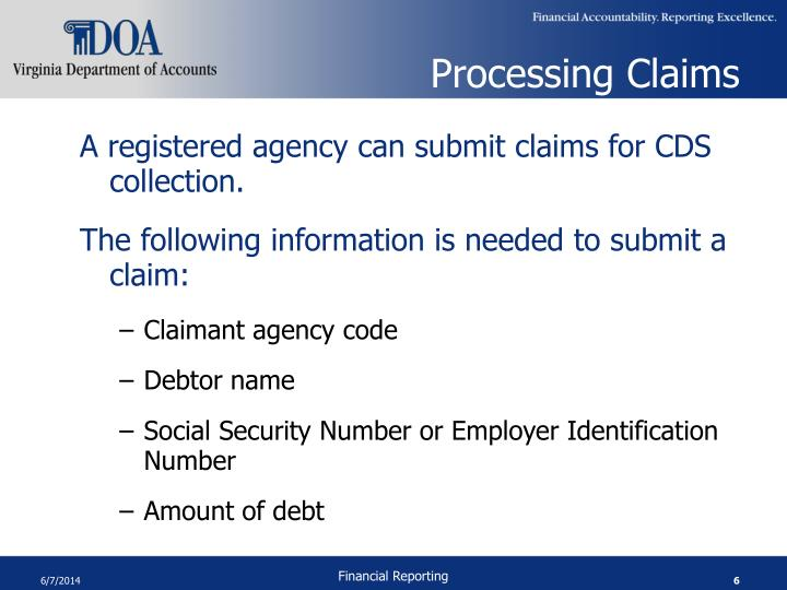 Processing Claims