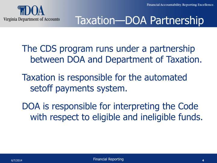 Taxation—DOA Partnership