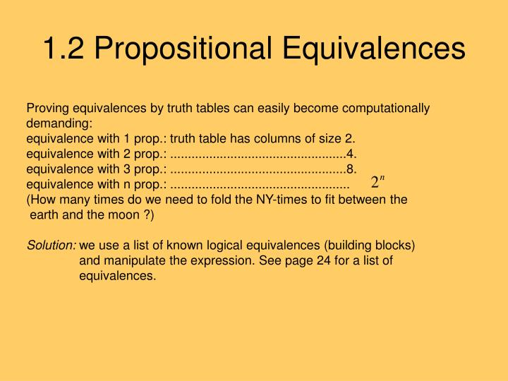 1.2 Propositional Equivalences