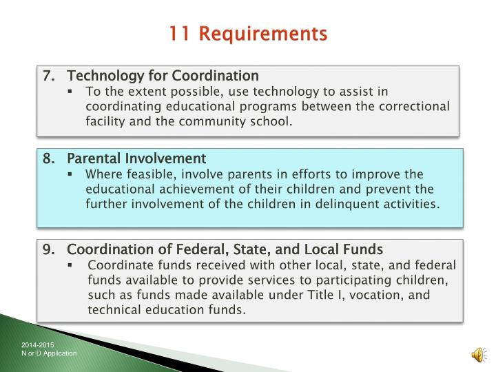 11 Requirements