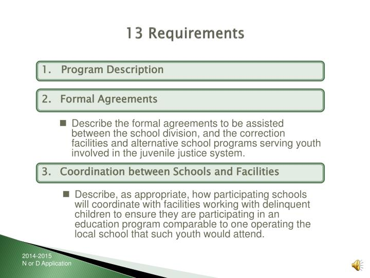 13 Requirements