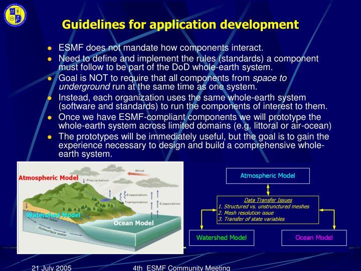 Guidelines for application development