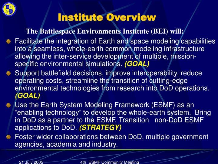 Institute Overview