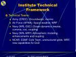 institute technical framework
