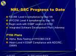nrl ssc progress to date