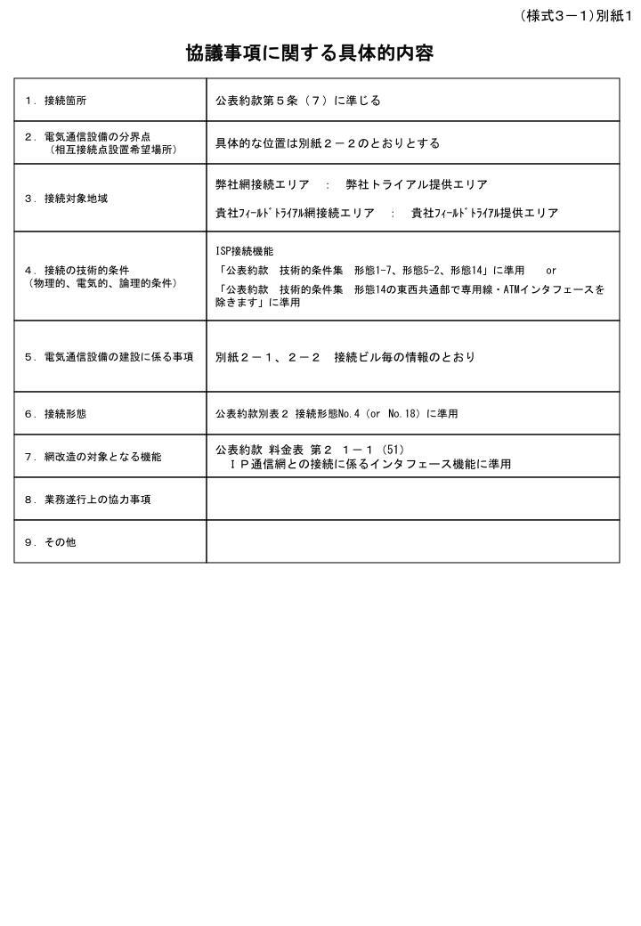 (様式3-1)別紙1