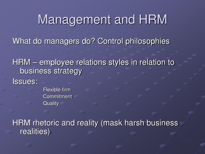 Management and HRM