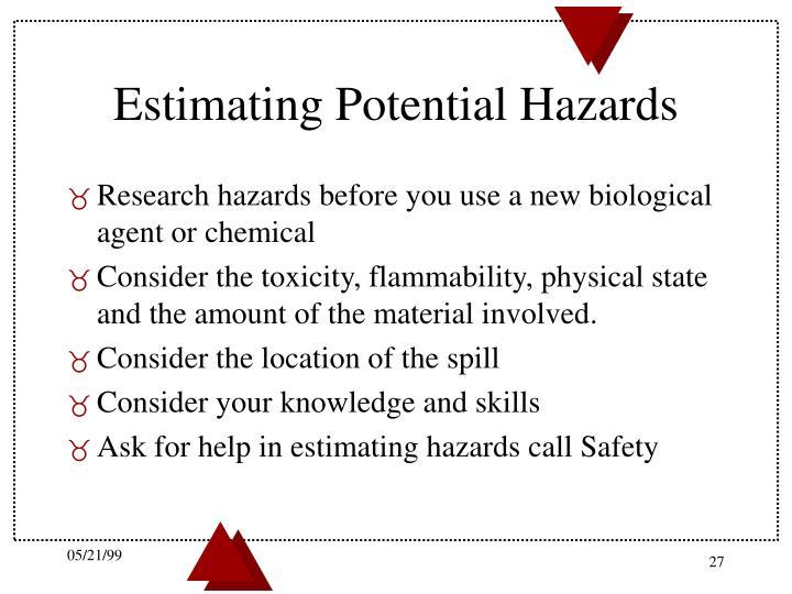 Estimating Potential Hazards