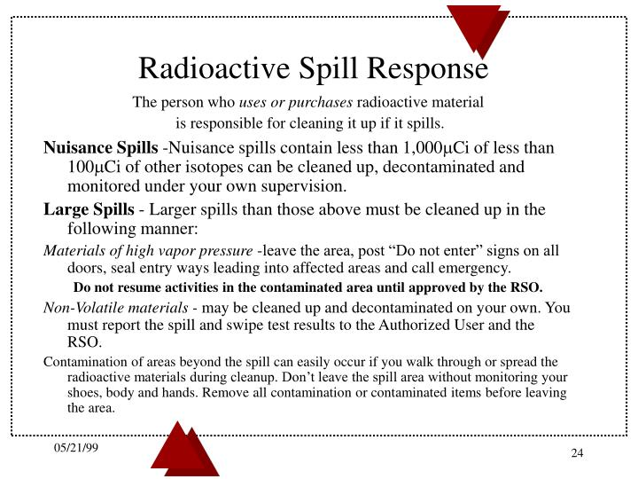 Radioactive Spill Response