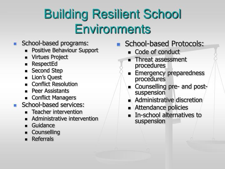 School-based programs: