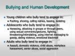 bullying and human development