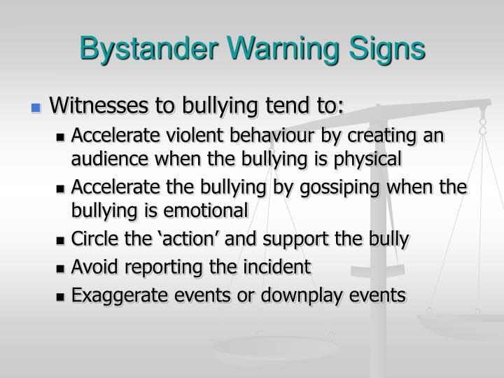 Bystander Warning Signs