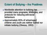 extent of bullying the positives