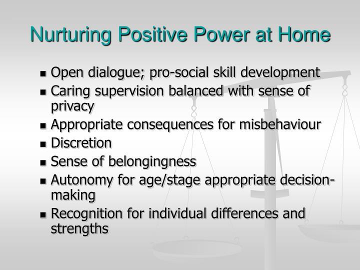 Nurturing Positive Power at Home