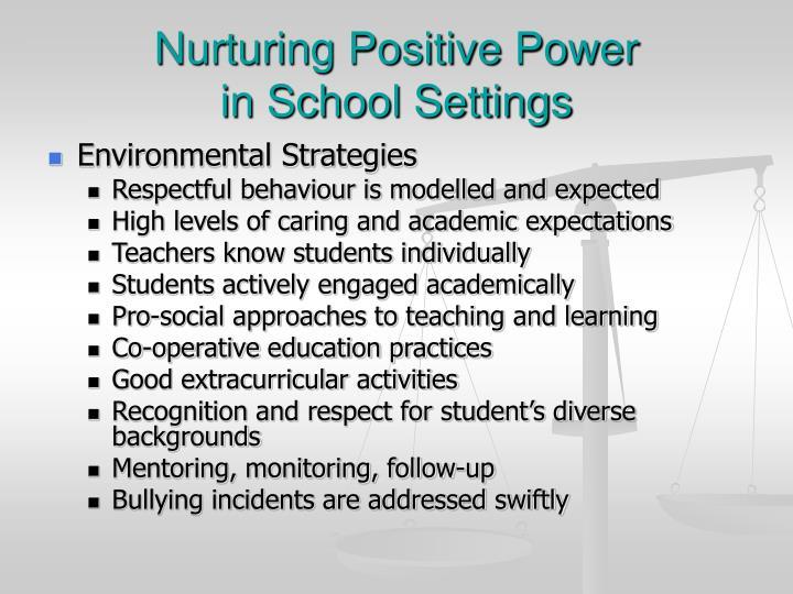 Nurturing Positive Power