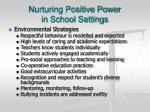 nurturing positive power in school settings1