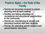 positive signs the role of the family