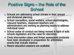 positive signs the role of the school