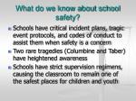 what do we know about school safety