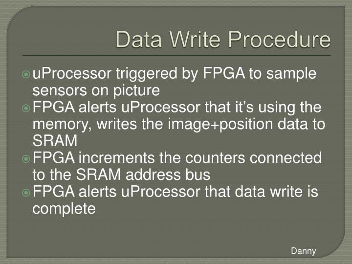 Data Write Procedure