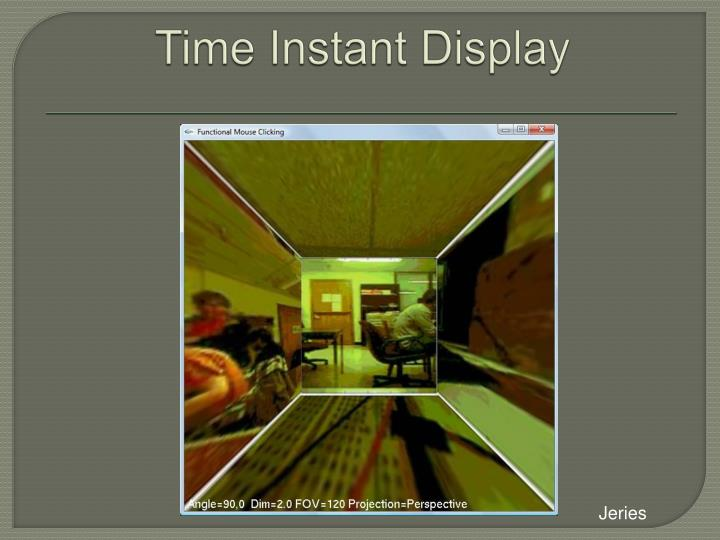 Time Instant Display