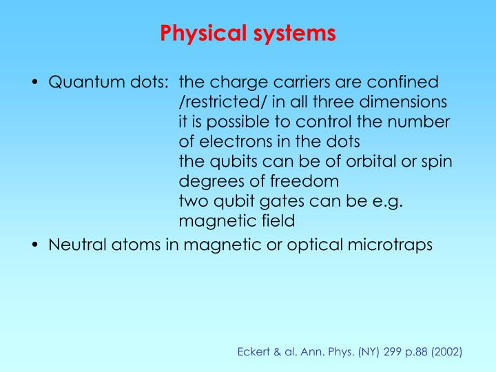 Physical systems