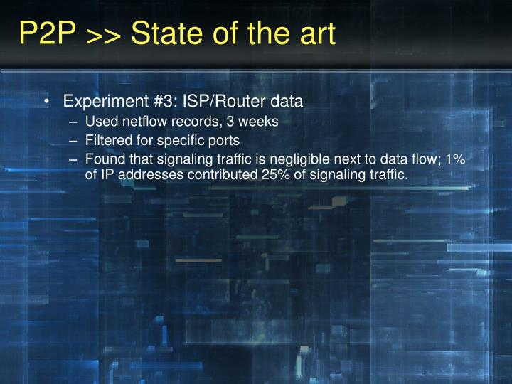 P2P >> State of the art