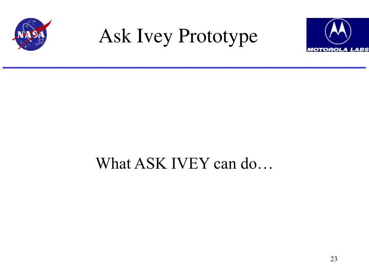 Ask Ivey Prototype