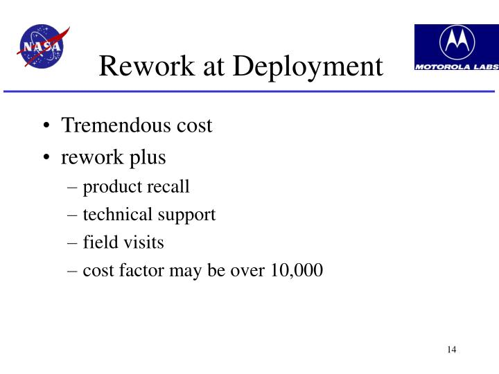 Rework at Deployment