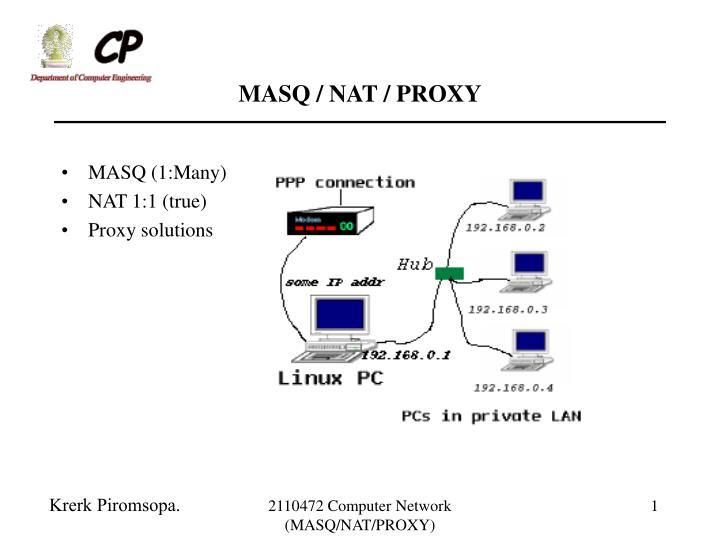 MASQ / NAT / PROXY
