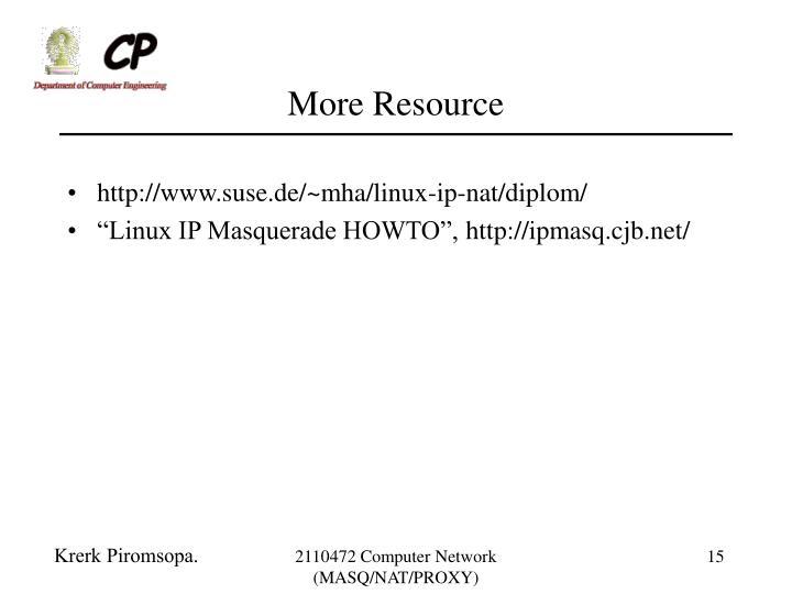More Resource