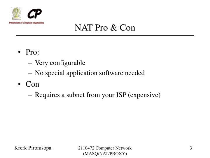NAT Pro & Con