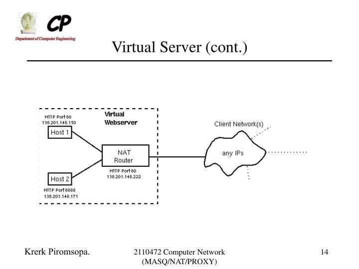Virtual Server (cont.)