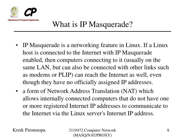 What is IP Masquerade?