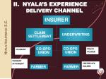 ii nyala s experience delivery channel