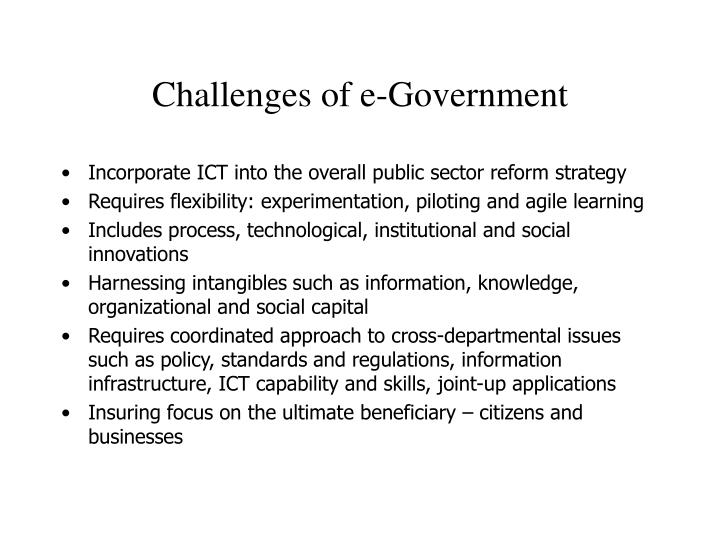 Challenges of e government