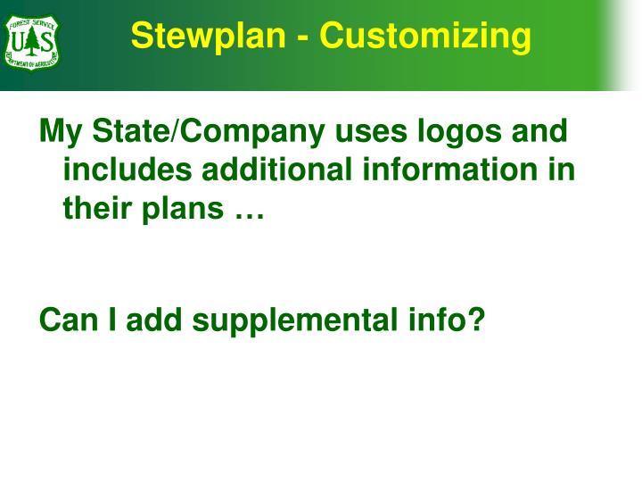 Stewplan - Customizing