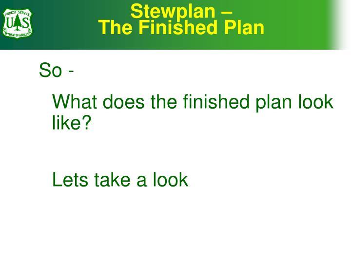 Stewplan –