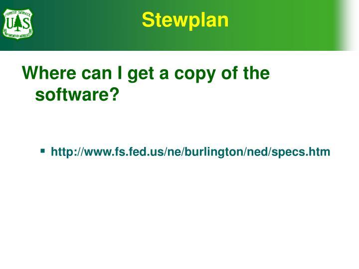 Stewplan