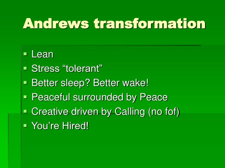 Andrews transformation