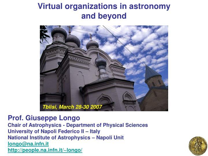 Virtual organizations in astronomy