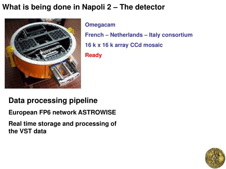 What is being done in Napoli 2 – The detector